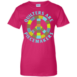Quilters are Piecemakers Ladies Custom 100% Cotton T-Shirt - Crafter4Life - 6
