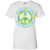 Quilters are Piecemakers Ladies Custom 100% Cotton T-Shirt - Crafter4Life - 2