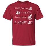 A Happy Me Custom Ultra Cotton T-Shirt - Crafter4Life - 6