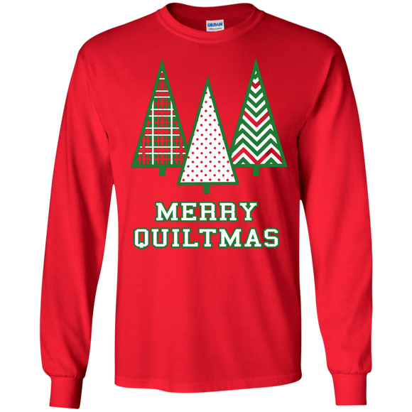 Merry Quiltmas LS Ultra Cotton T-shirt