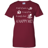 A Happy Me Ladies Custom 100% Cotton T-Shirt - Crafter4Life - 3