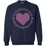 Piece of My Heart (Knit) Crewneck Pullover Sweatshirt