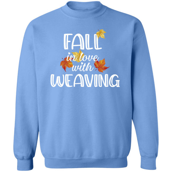 Fall in Love with Weaving Crewneck Pullover Sweatshirt