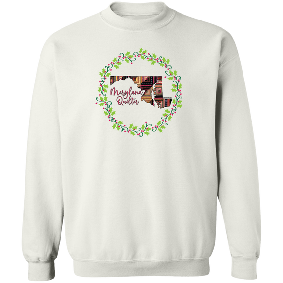 Maryland Quilter Christmas Crewneck Pullover Sweatshirt