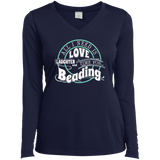 Time for Beading Ladies Long Sleeve V-neck Tee - Crafter4Life - 5