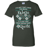 I Shop Faster than I Quilt Ladies Custom 100% Cotton T-Shirt - Crafter4Life - 6