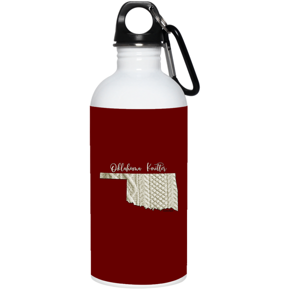 Oklahoma Knitter Stainless Steel Water Bottle
