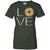 LOVE Quilting (Fall Colors) Ladies Custom 100% Cotton T-Shirt - Crafter4Life - 6