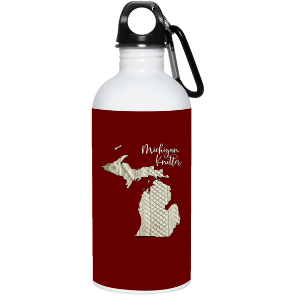 Michigan Knitter Stainless Steel Water Bottle