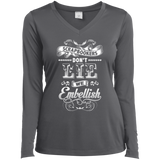 Scrapbookers Don't Lie Ladies Long Sleeve V-neck Tee - Crafter4Life - 7