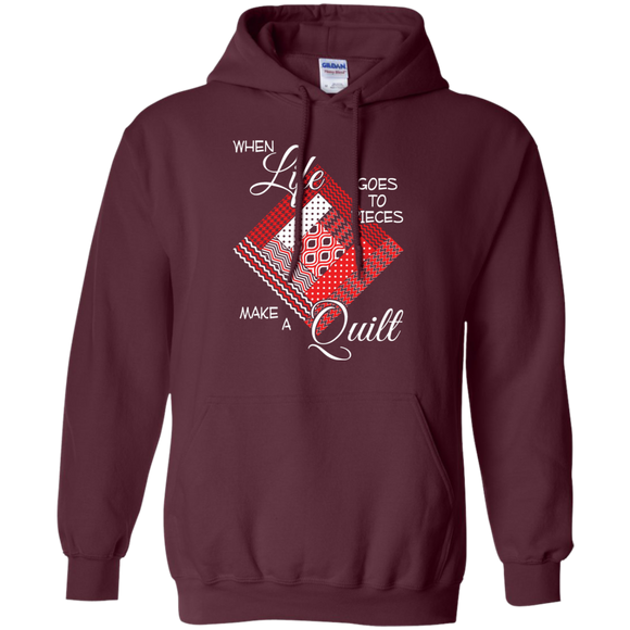 Make a Quilt (red) Pullover Hoodies - Crafter4Life - 1