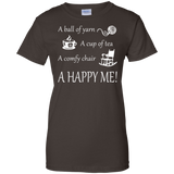 A Happy Me Ladies Custom 100% Cotton T-Shirt - Crafter4Life - 4