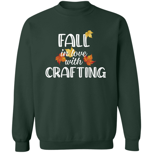 Fall in Love with Crafting Crewneck Pullover Sweatshirt