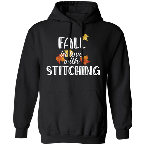 Fall in Love with Stitching Pullover Hoodie