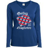 Quilters Make Better Comforters Ladies Long Sleeve V-neck Tee - Crafter4Life - 7