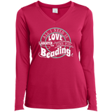 Time for Beading Ladies Long Sleeve V-neck Tee - Crafter4Life - 4