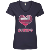 Heart Quilting Ladies V-neck Tee - Crafter4Life - 4