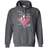 Make a Quilt (pink) Pullover Hoodies - Crafter4Life - 4
