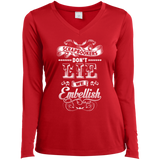 Scrapbookers Don't Lie Ladies Long Sleeve V-neck Tee - Crafter4Life - 5