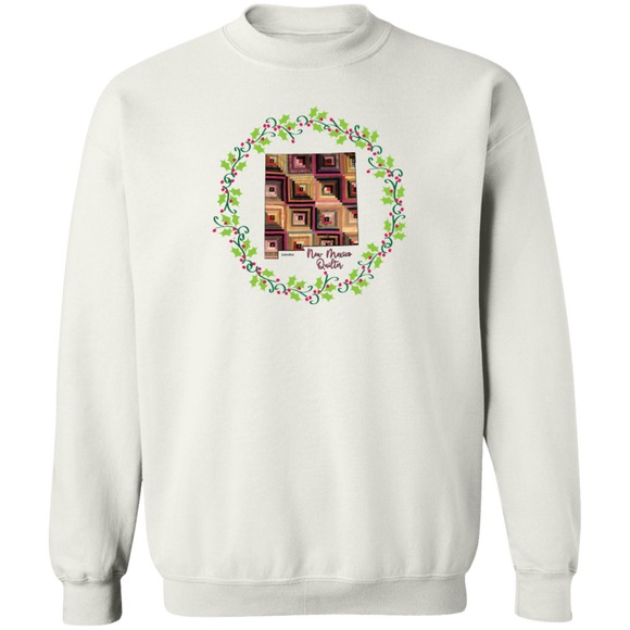 New Mexico Quilter Christmas Crewneck Pullover Sweatshirt