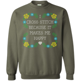 I Cross Stitch Because It Makes Me Happy Crewneck Sweatshirts - Crafter4Life - 10