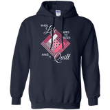 Make a Quilt (pink) Pullover Hoodies - Crafter4Life - 3