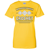 I Am Happiest When I Crochet Ladies Custom 100% Cotton T-Shirt - Crafter4Life - 5