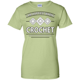 I Am Happiest When I Crochet Ladies Custom 100% Cotton T-Shirt - Crafter4Life - 8