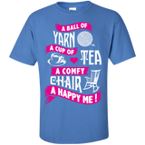A Ball of Yarn, A Happy Me Custom Ultra Cotton T-Shirt - Crafter4Life - 6