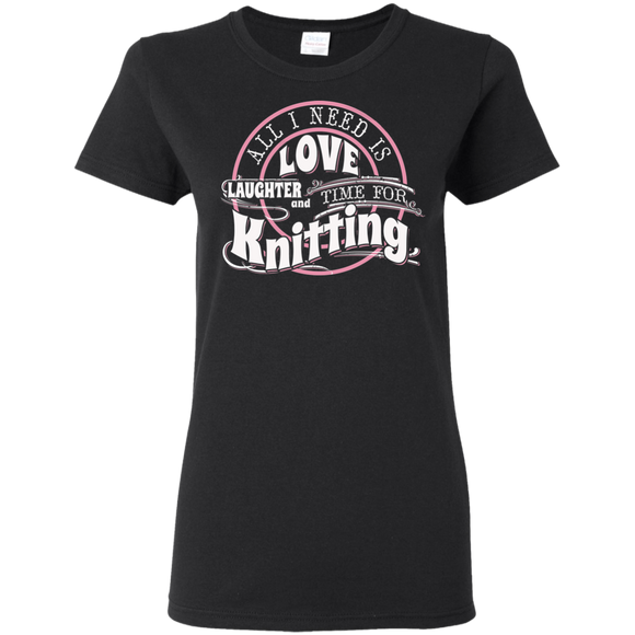 Time for Knitting Ladies T-Shirt
