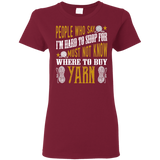 Where to Buy Yarn Ladies' Cotton T-Shirt