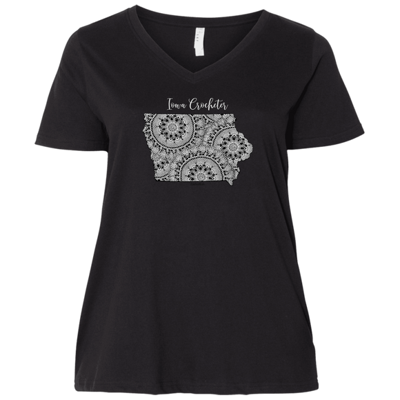 Iowa Crocheter Ladies Curvy Full-Figure T-Shirts