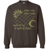 Wish I May Quilt Crewneck Sweatshirts - Crafter4Life - 7