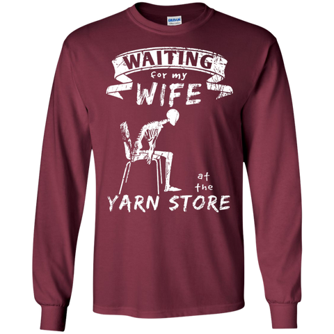 Waiting at the Yarn Store Long Sleeve T-Shirt - Crafter4Life - 1