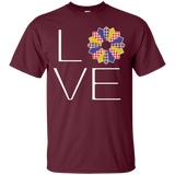 LOVE Quilting (Primary Colors) Custom Ultra Cotton T-Shirt - Crafter4Life - 8