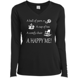 A Happy Me Ladies Long Sleeve V-neck Tee - Crafter4Life - 2