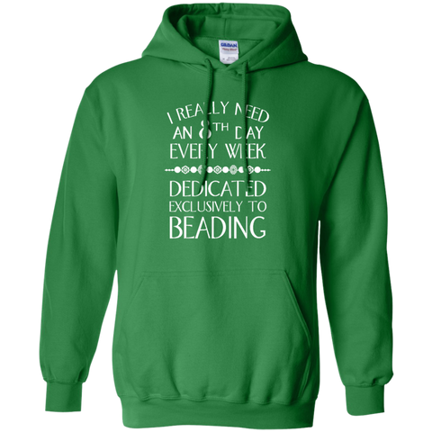 8th Day Beading Pullover Hoodie