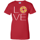 LOVE Quilting (Fall Colors) Ladies Custom 100% Cotton T-Shirt - Crafter4Life - 11