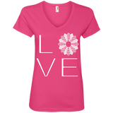 LOVE Quilting Ladies V-Neck Tee - Crafter4Life - 3