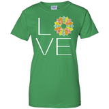 LOVE Quilting (Fall Colors) Ladies Custom 100% Cotton T-Shirt - Crafter4Life - 8
