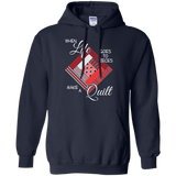 Make a Quilt (red) Pullover Hoodies - Crafter4Life - 3