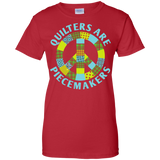 Quilters are Piecemakers Ladies Custom 100% Cotton T-Shirt - Crafter4Life - 11