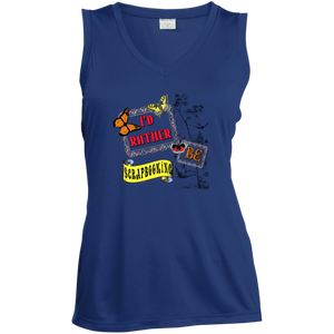 I'd Rather be Scrapbooking Ladies Sleeveless V-neck - Crafter4Life - 4