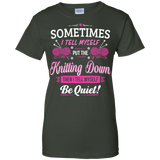 Put the Knitting Down Ladies Custom 100% Cotton T-Shirt - Crafter4Life - 5