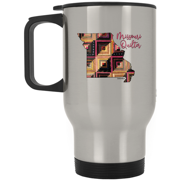Missouri Quilter Silver Stainless Travel Mug