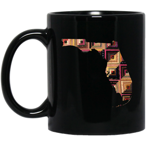 Florida Quilter Black Mugs