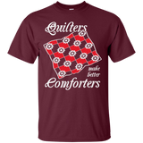 Quilters Make Better Comforters Custom Ultra Cotton T-Shirt - Crafter4Life - 8