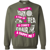 A Ball of Yarn, A Happy Me Crewneck Sweatshirts - Crafter4Life - 10