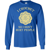 I Crochet So I Don't Hurt People Long Sleeve Ultra Cotton T-Shirt - Crafter4Life - 9