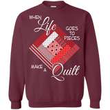 Make a Quilt (red) Crewneck Sweatshirts - Crafter4Life - 3